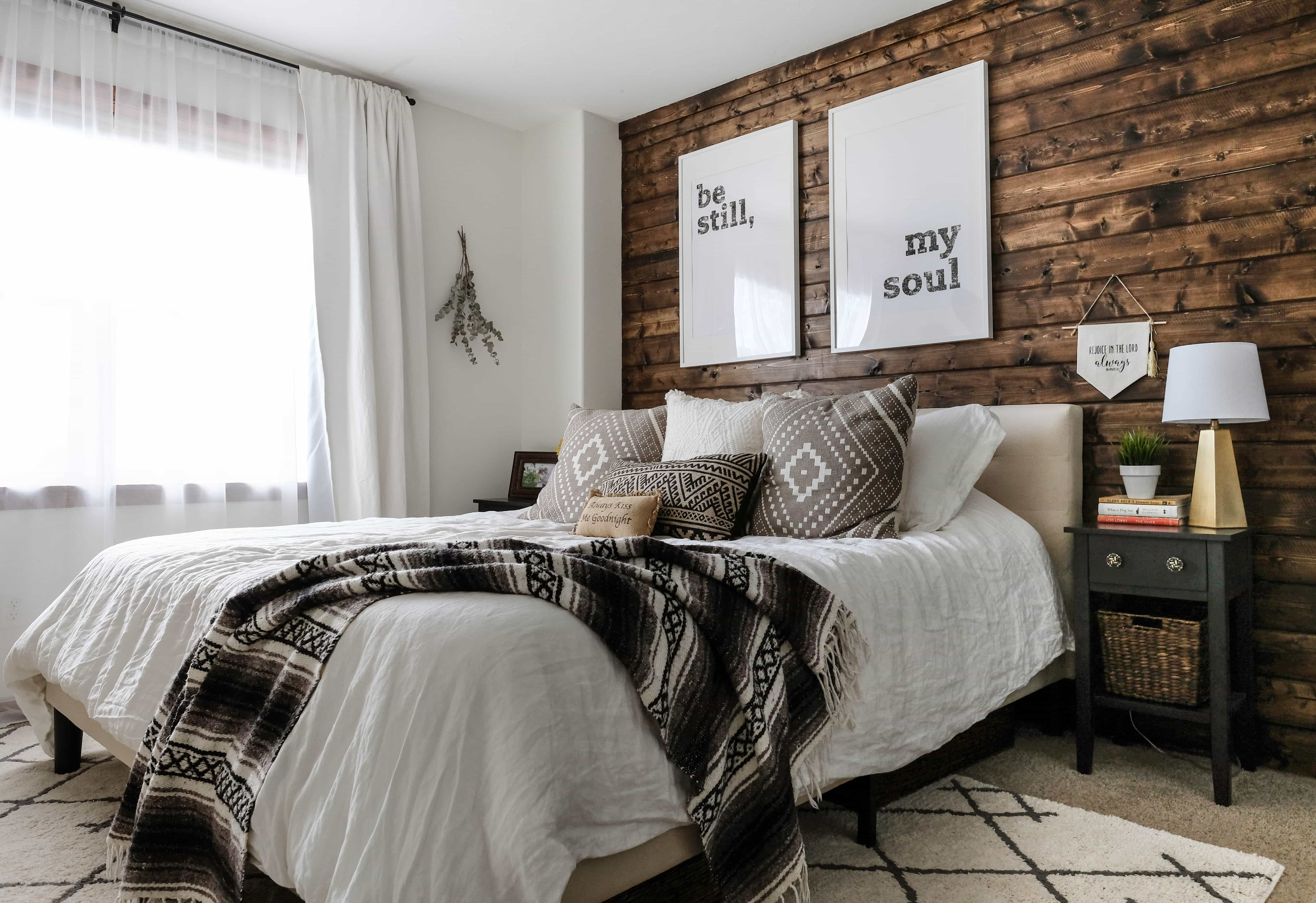 bedroom with accent wall why your home needs a wood plank accent wall how to do 14473