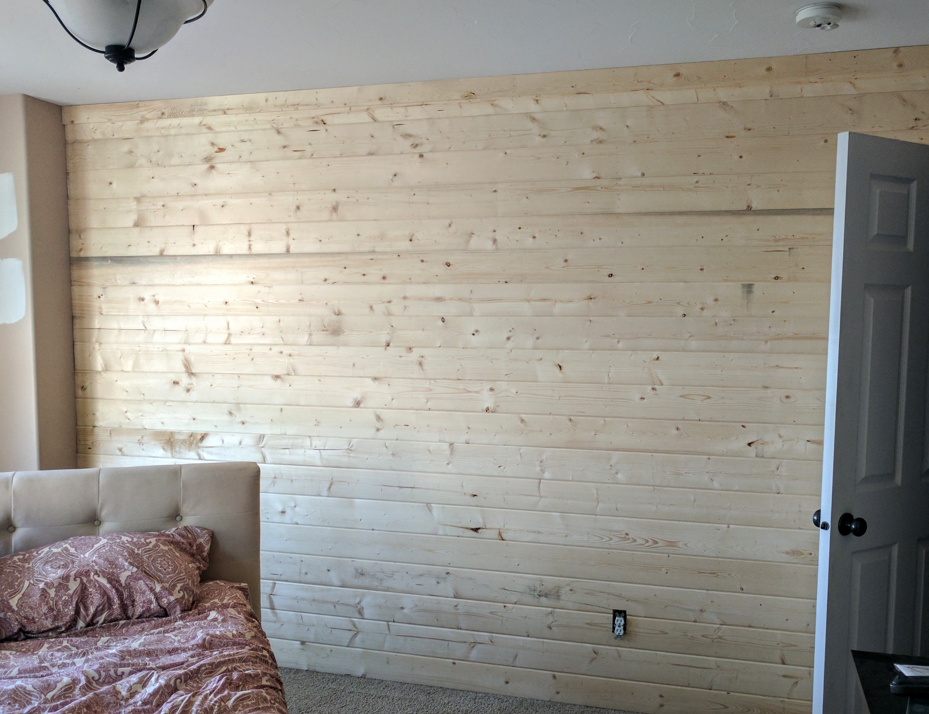 A DIY Wood Plan Accent Wall