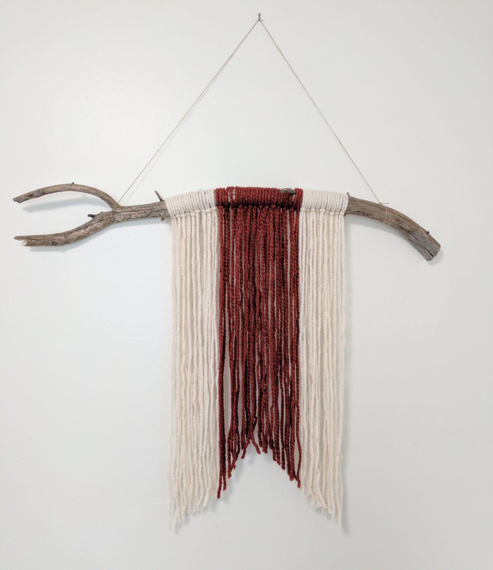 a handmade DIY driftwood wall hanging
