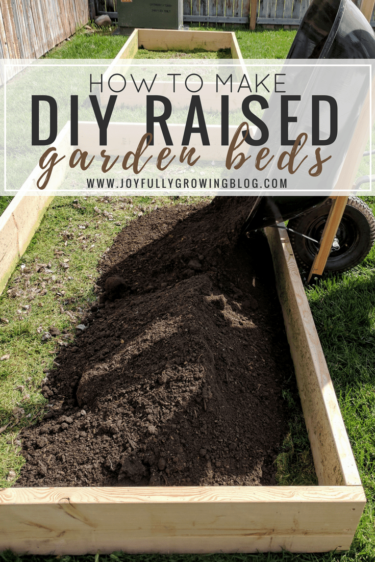 Raised garden beds with dirt piles being dumped out of wheel barrow