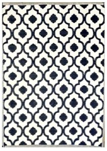 cute navy outdoor rugs with trellis pattern