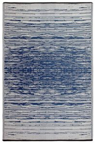 Navy blue outdoor rugs on amazon