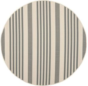 round outdoor rugs with grey stripes
