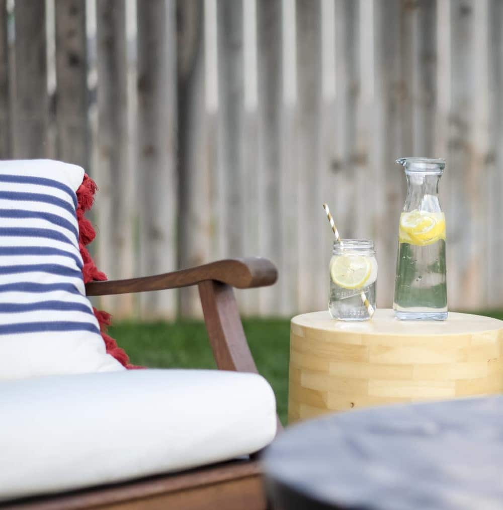 outdoor patio makeover on a budget