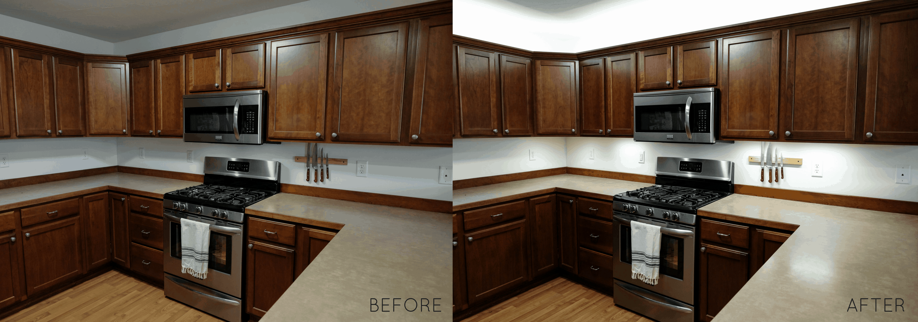 DIY Cabinet Lighting in 30 Minutes - How to Guide
