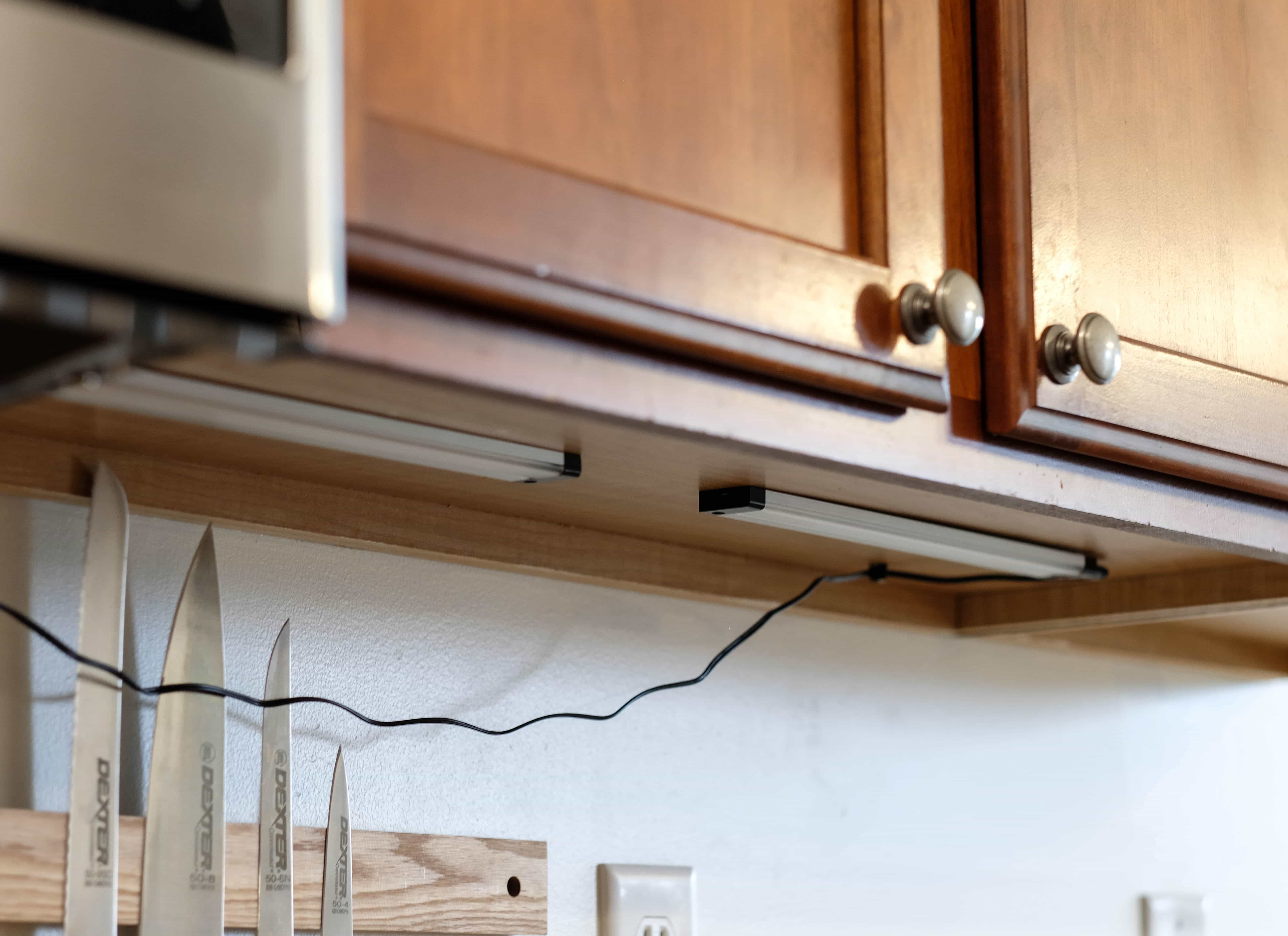 How to add cabinet lighting on a budget in just 30 minutes installing under cabinet lights mozeypictures Images
