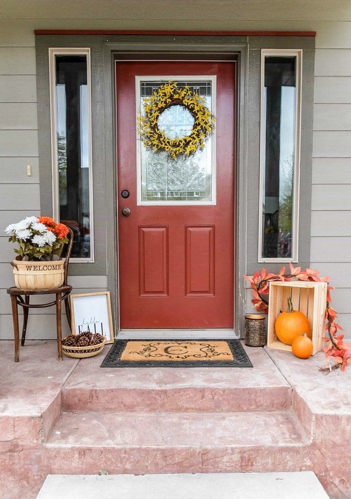 Fall Front Porch on a Budget