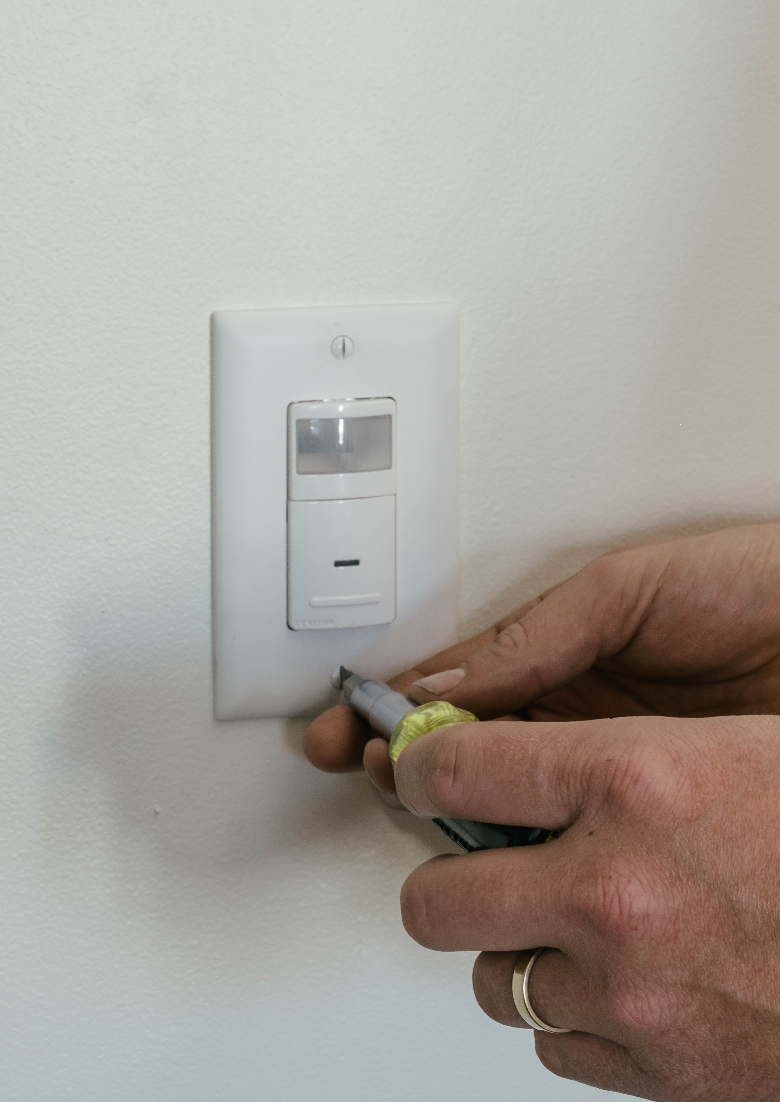 Installing an occupancy sensor for use in a Smart Lighting system