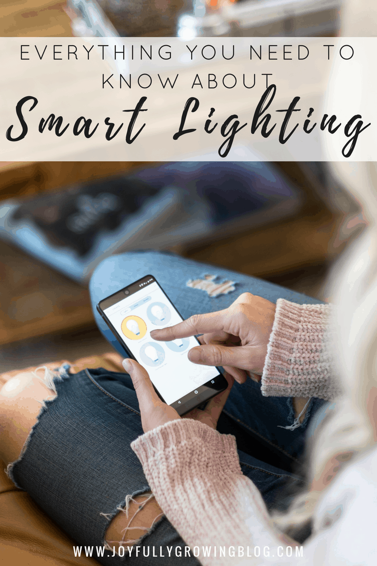 A phone app controling smart lighting