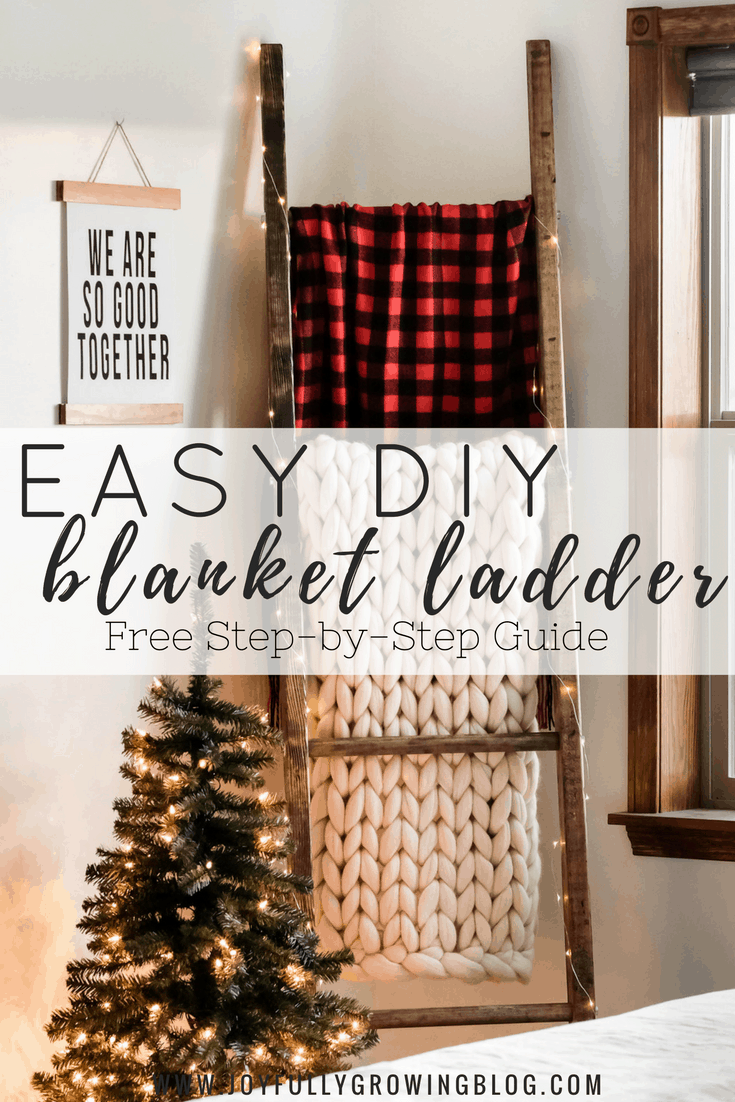 DIY Blanket Ladder + How to Decorate It for the Holidays