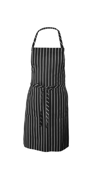 black striped apron as gift idea for cook