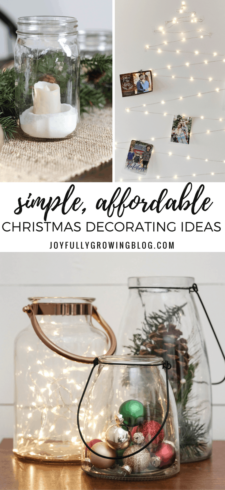 Simple and Affordable Christmas Decorating Ideas