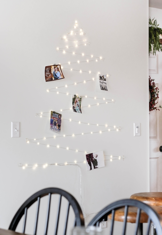 twinkle Light Card Display shaped like a christmas tree