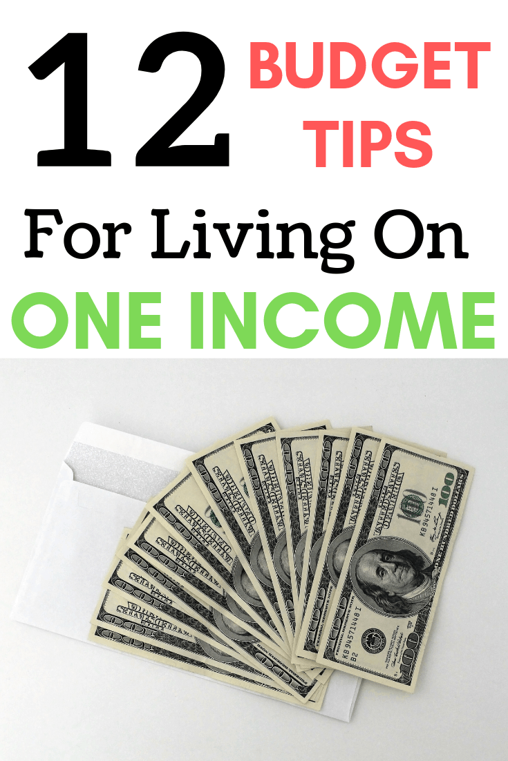 budget tips for living on one income