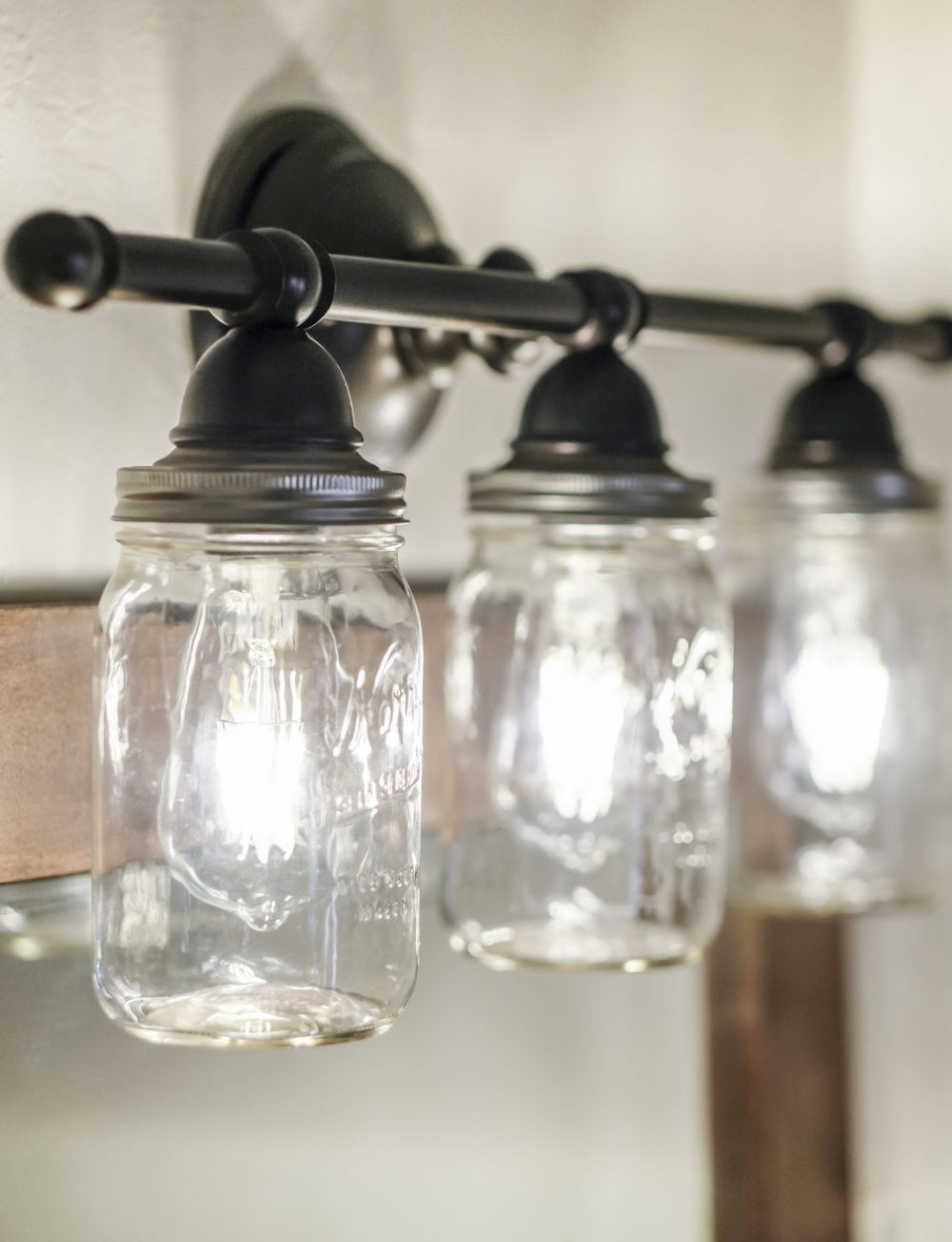 DIY mason jar light fixture