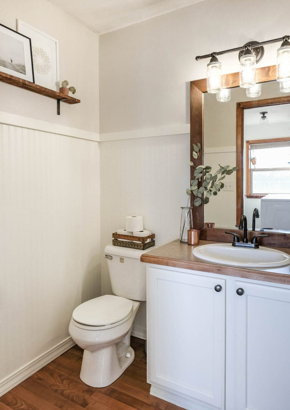 budget bathroom renovation final reveal
