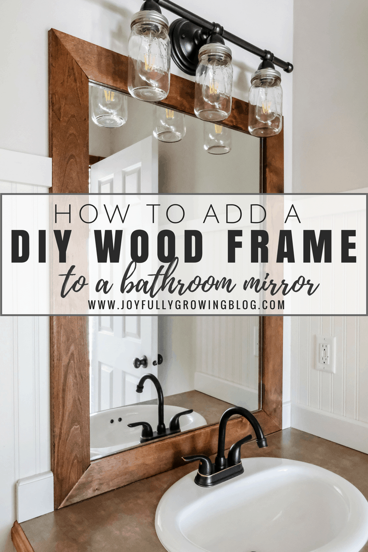 how to add a diy wood frame to a bathroom mirror 26093