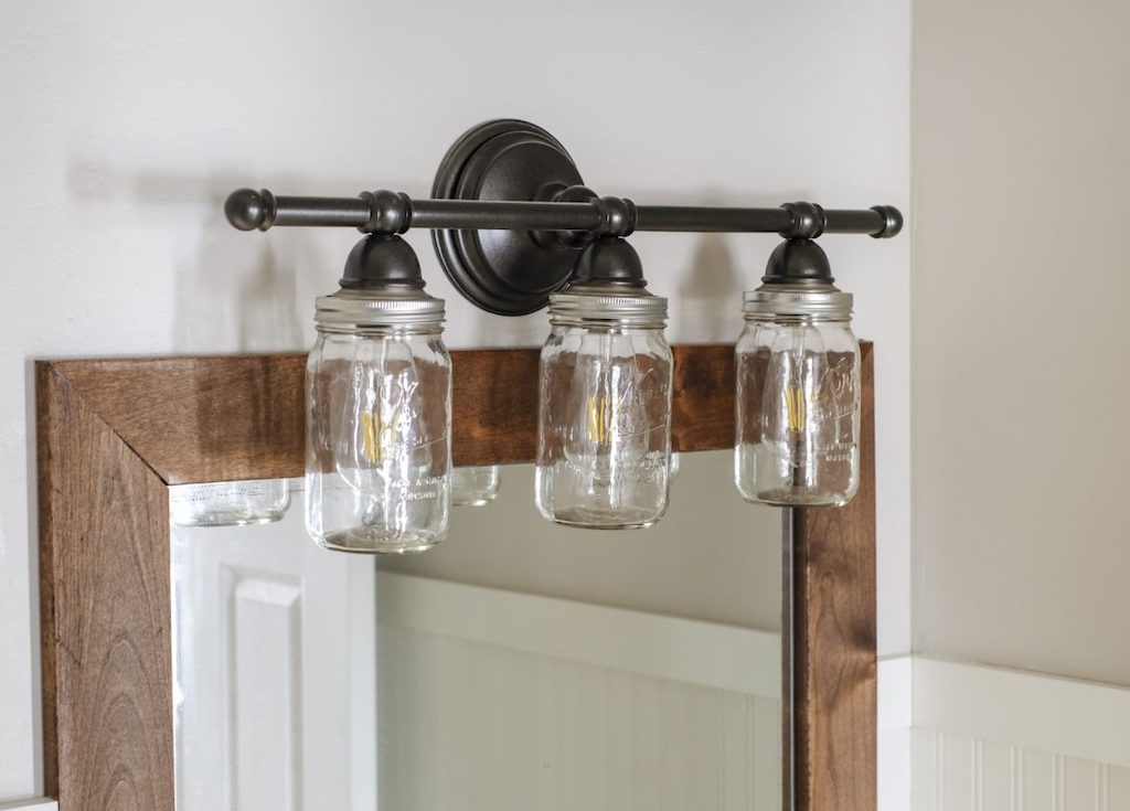 farmhouse style mason jar light fixture