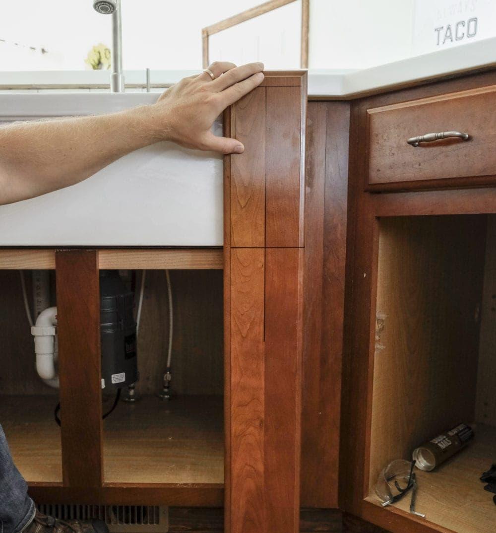 Diy Farmhouse Sink Installation Easy Step By Step Tutorial