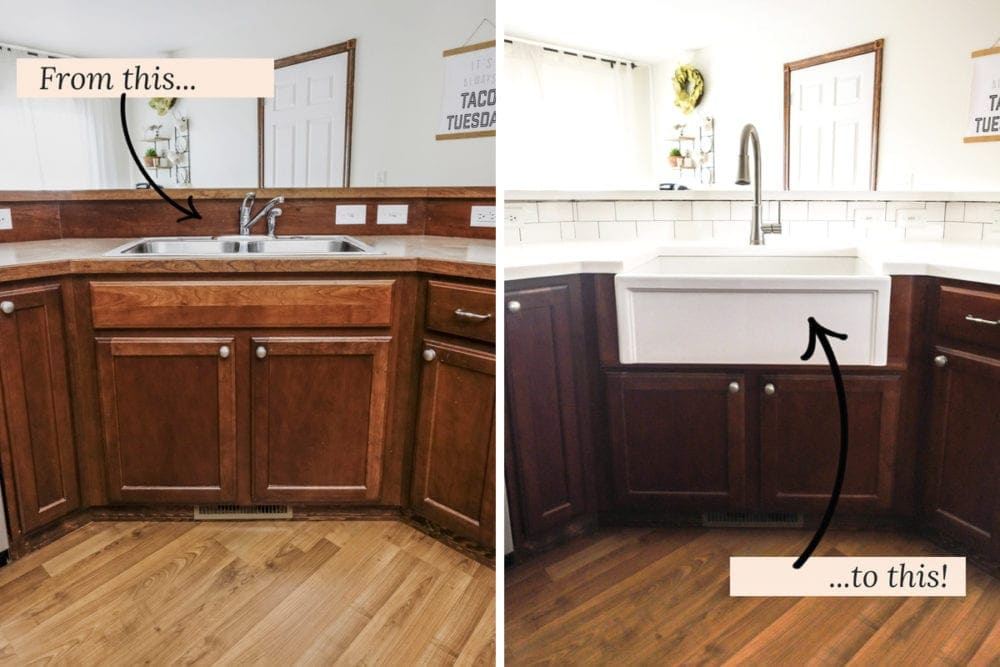 DIY Farmhouse Sink Installation | Easy Step-by-step Tutorial on kitchen refrigerator cabinet ideas, kitchen furniture cabinet ideas, kitchen wall cabinet ideas, kitchen appliance garage ideas, kitchen pantry cabinet ideas,