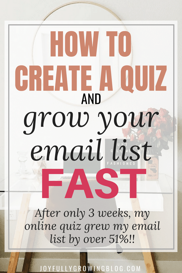 "Image of desk with text overlay that reads ""How to create a quiz and grow your email list fast!"""