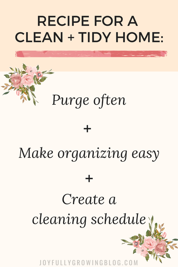 Inforgraphic to be a reminder about how to keep your house clean and clutter free