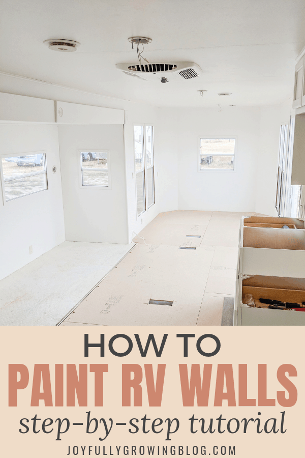 How to paint rv interior walls and cabinets, a step-by-step tutorial