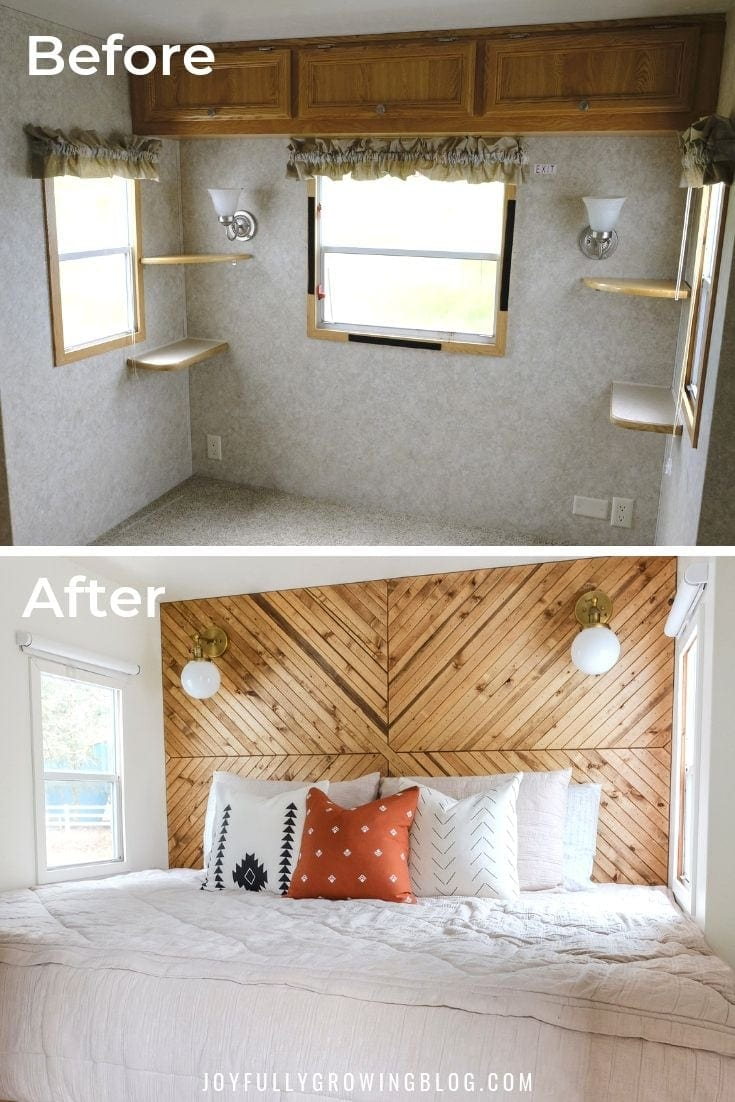 RV Bedroom Remodel | Camper Bedroom Before & After!