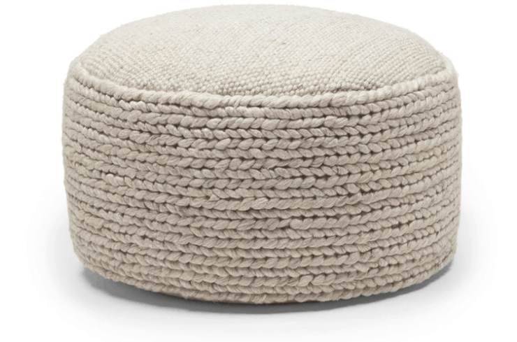 Magnificent Why You Need A Pouf For Your Living Room How To Style It 3 Theyellowbook Wood Chair Design Ideas Theyellowbookinfo