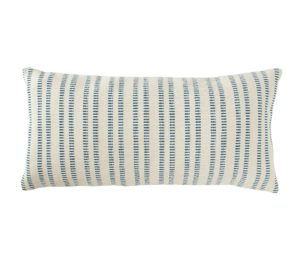 coastal style lumbar pillow with stripes