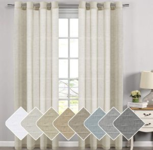 sheer linen curtain panels in natural color