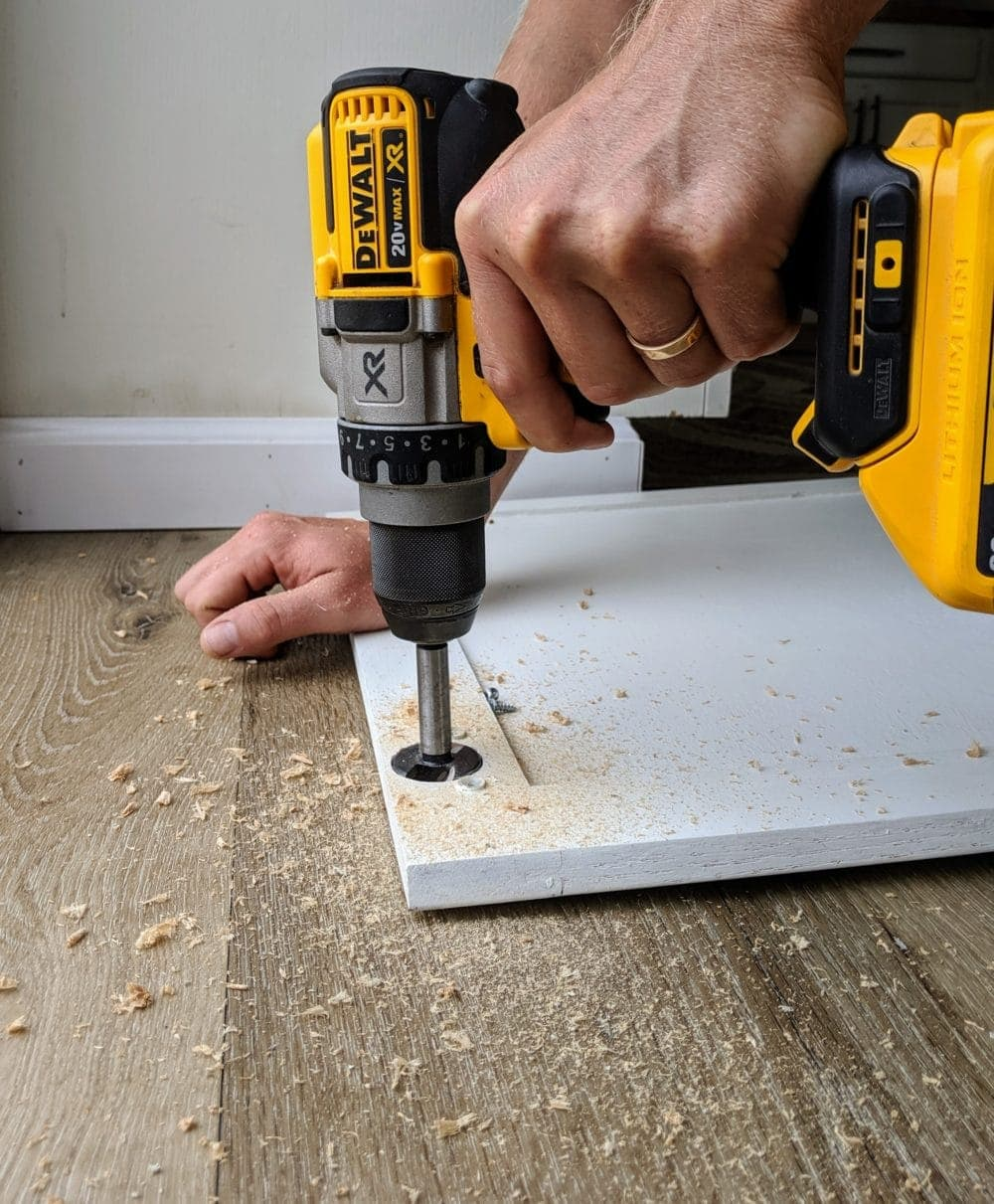 Drilling with a DeWalt 20V Max Drill