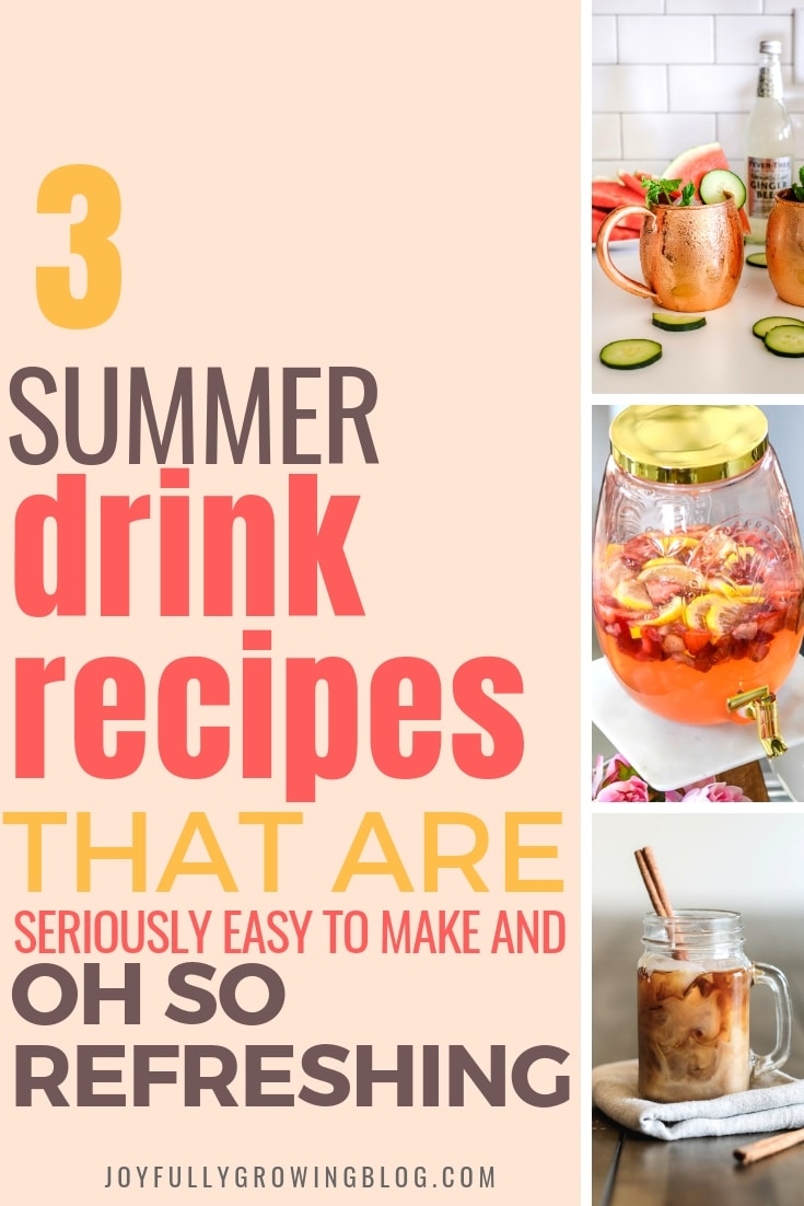 3 summer drink recipes that are seriously easy to make and refreshing