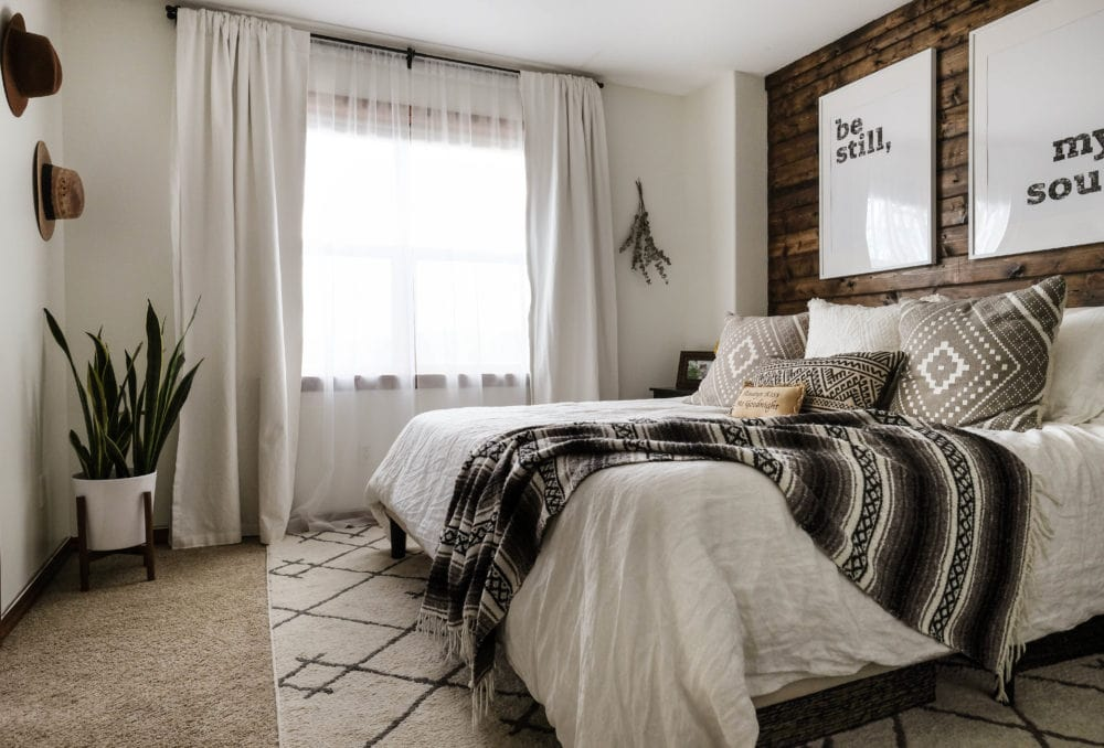 Using natural light to brighten a bedroom
