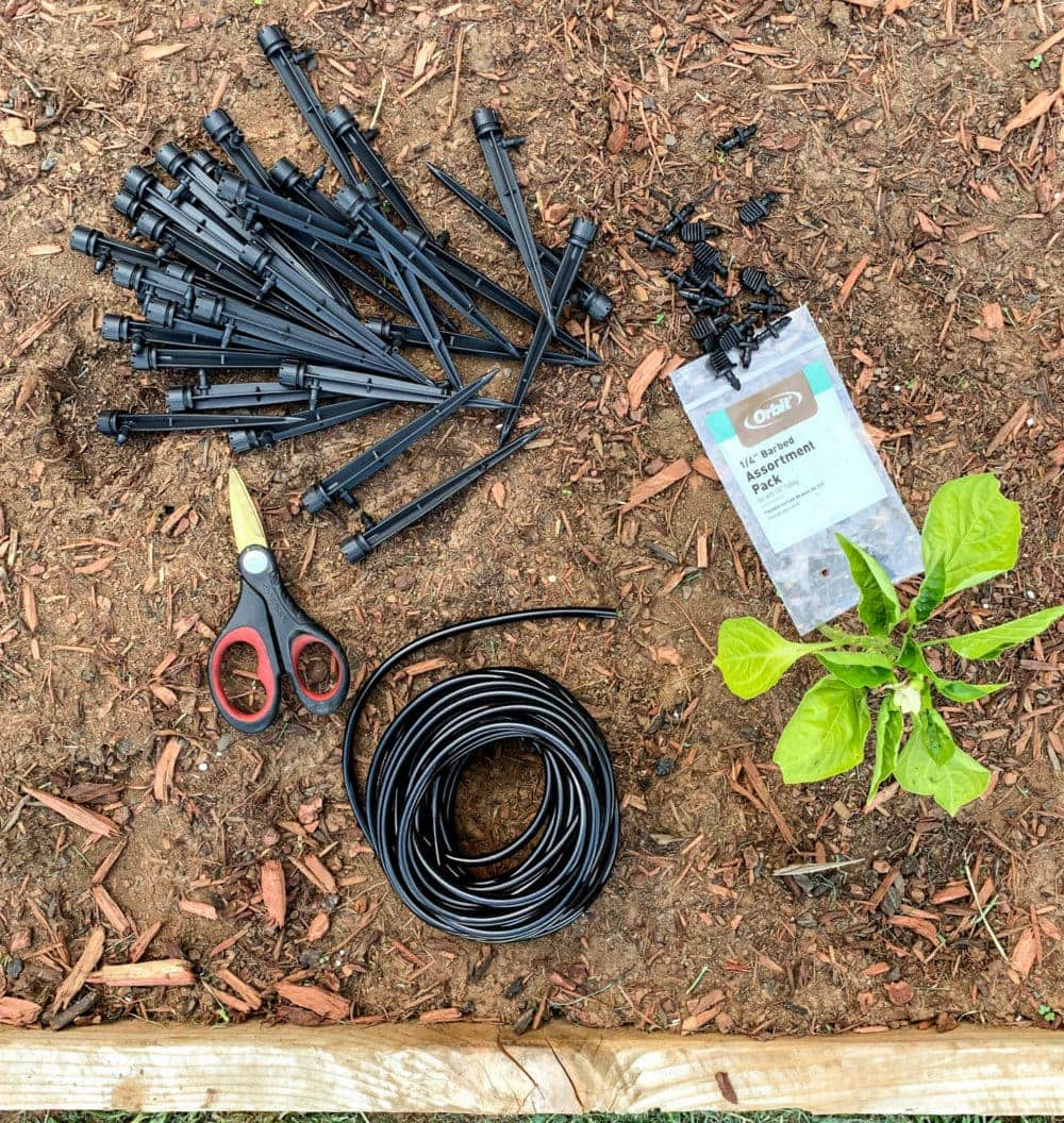 supplies to build a drip irrigation system
