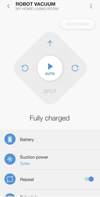 screenshot of the SmartThings app navigation