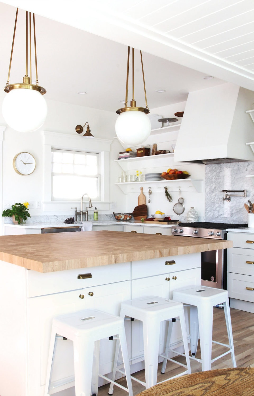 kitchen island butcher block countertops
