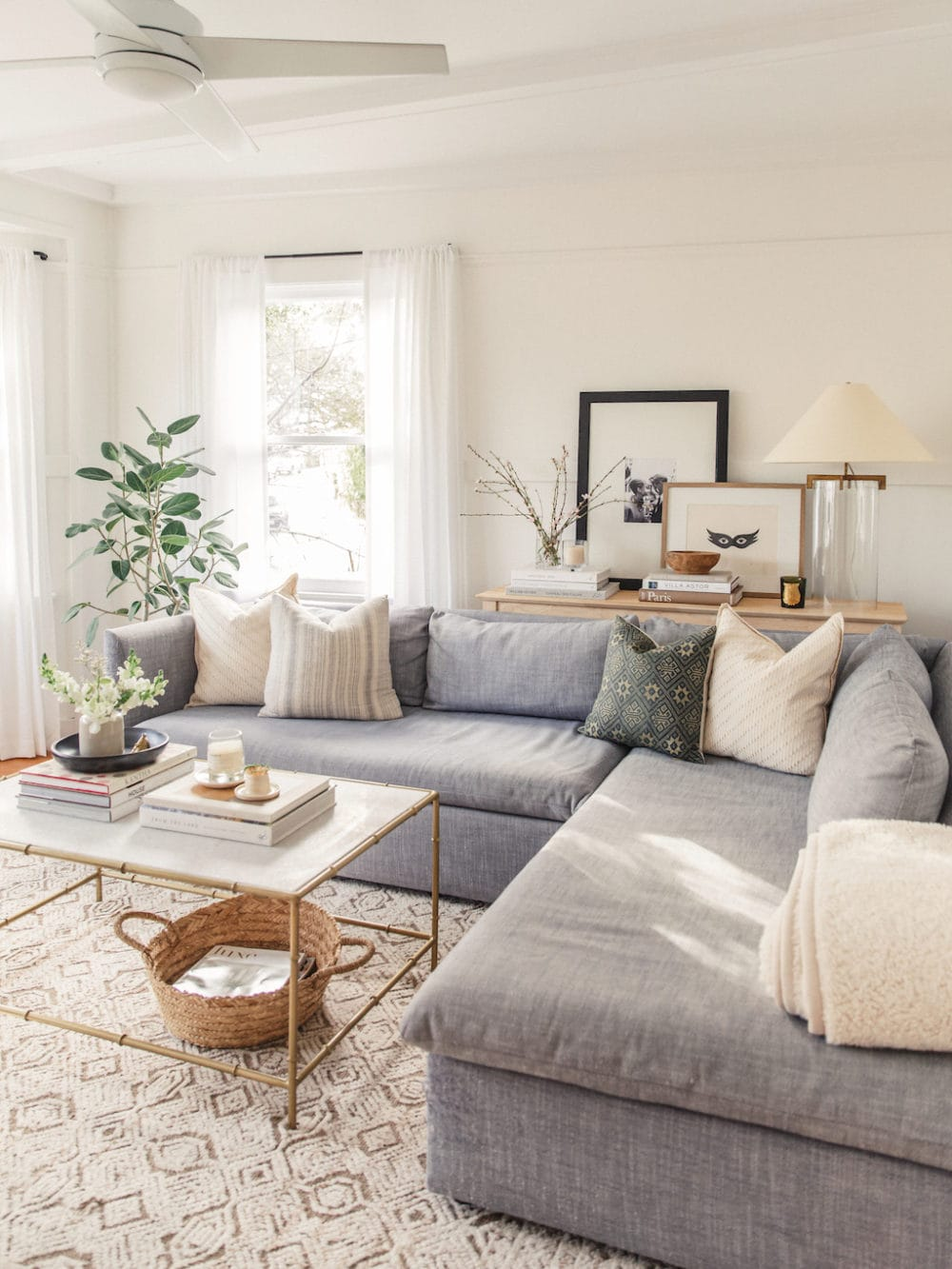 a living room painted with an off-white color
