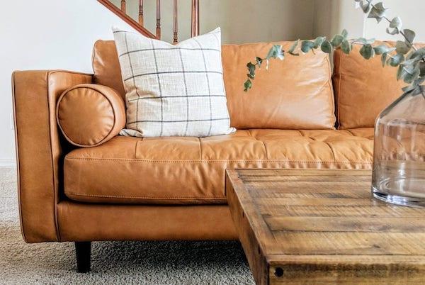 a leather sofa