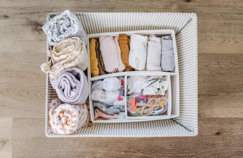 baby clothes storage basket