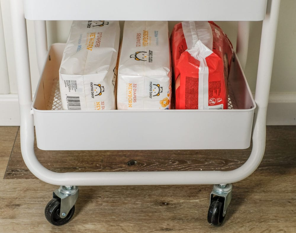 third tier of the three tier baby organization utility cart