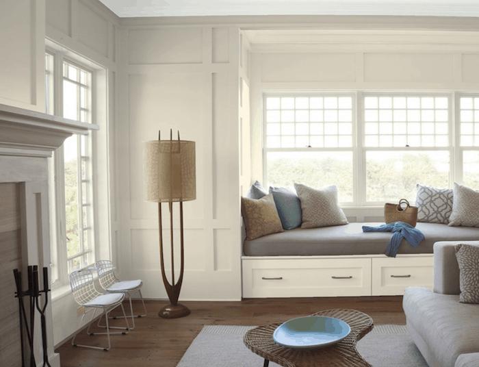 Edgecomb Gray sitting room