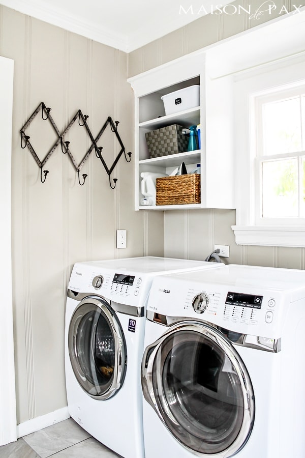 Colonnade Gray laundry room