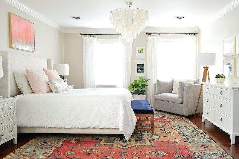 Edgecomb Gray bedroom