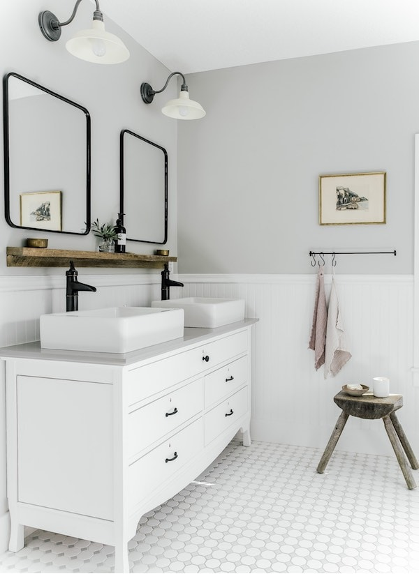 Light French Gray bathroom