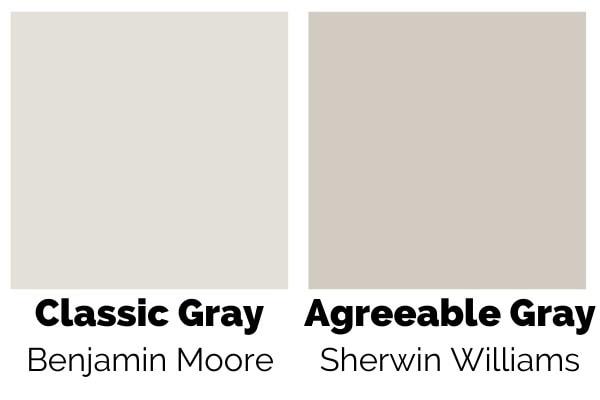 Benjamin Moore Classic Gray vs Sherwin Williams Agreeable Gray
